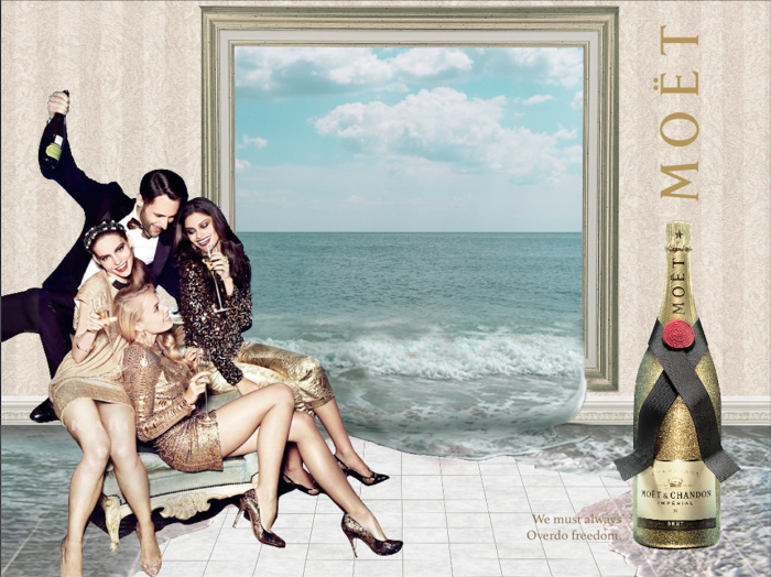 moet advertising marie chapuis surreal