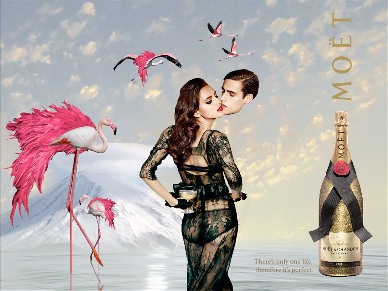 moet champagne marie chapuis advertising