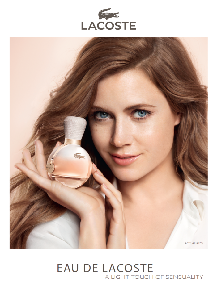 amy adams vincent peters advertising lacoste fragrance perfume luxury marie chapuis