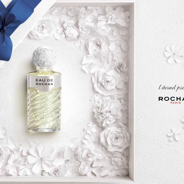 rochas perfume - papercut flowers gifting fragrance, eau de Rochas, marie chapuis