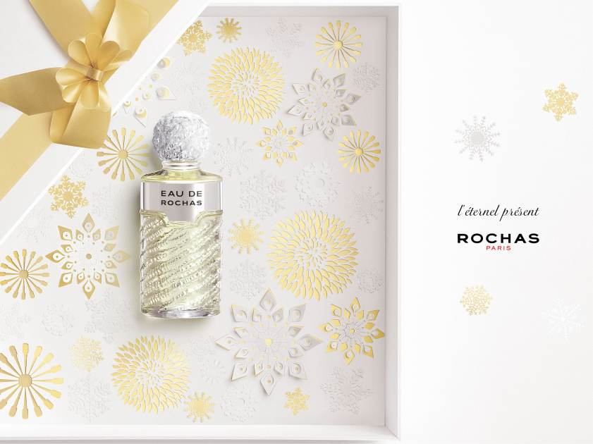 eau de rochas christmas gift - paper cut - advertising