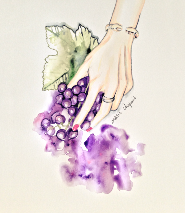 marie chapuis watercolor fashion illustration