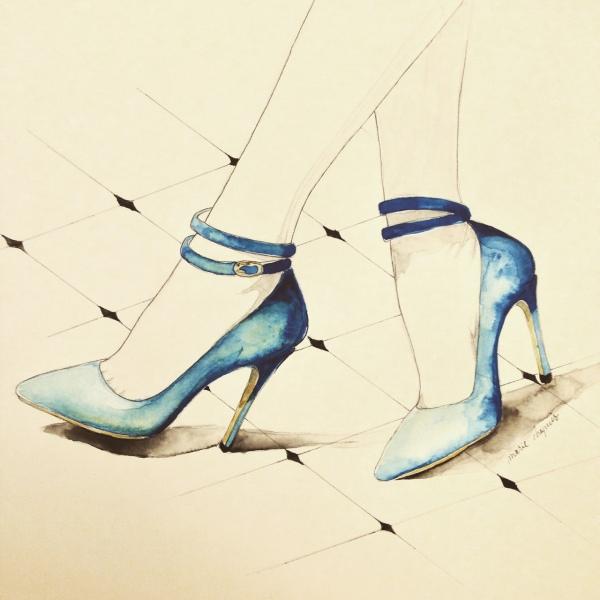 walk in stilettos